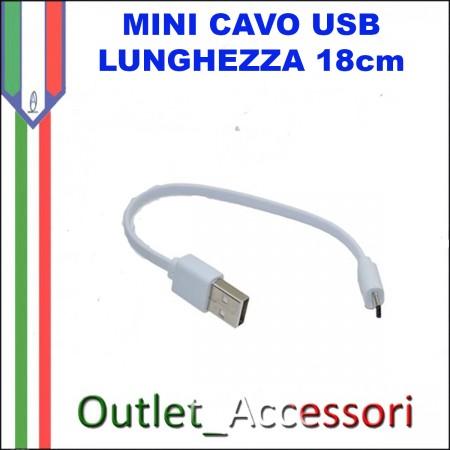 Mini Cavo Dati e Alimentazione Micro USB 18cm