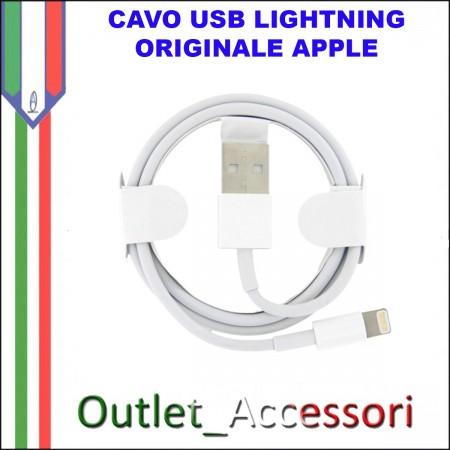 Cavo USB Lightning APPLE Iphone 5 5c 5s 6 Plus Ipad Air ORIGINALE