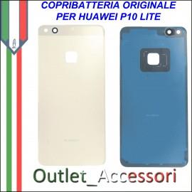 Copribatteria Originale Back Cover Huawei P10 Lite GOLD Scocca Vetro WAS-L03T