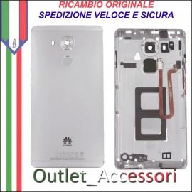 Copribatteria Originale Back Cover Huawei MATE 8 NXTL09 NXT-L09 Nero Nera Flat Impronte