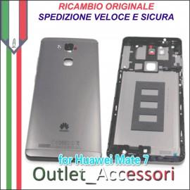 Copribatteria Originale Back Cover Huawei MATE 7 MT7-L09 MT7L09 NERO NERA