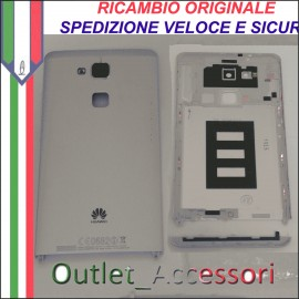 Copribatteria Originale Back Cover Huawei MATE 7 MT7-L09 MT7L09 SILVER