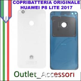 Copribatteria Originale Back Cover Huawei P8 LITE 2017 BIANCO