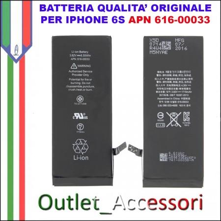 Batteria Pila Qualità Originale Apple Iphone 6S A1688 APN 616-00033