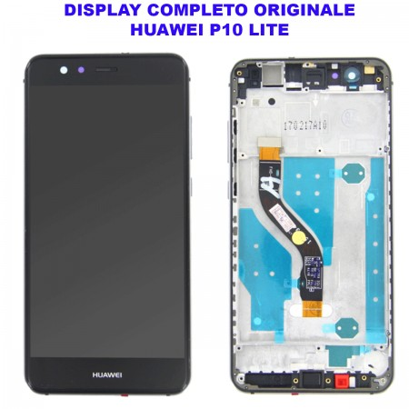 Display Schermo Huawei P10 LITE NERO Originale LCD TOUCH Vetro Cornice WAS-LX1 LX1A