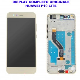 Display Schermo Huawei P10 LITE BIANCO Originale LCD TOUCH Vetro Cornice WAS-LX1 LX1A