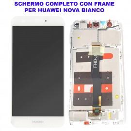 Display Schermo Huawei NOVA BIANCO SILVER CAN-L11 Originale LCD TOUCH Vetro Cornice