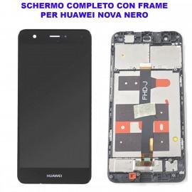 Display Schermo Huawei NOVA NERO CAN-L11 Originale LCD TOUCH Vetro Cornice