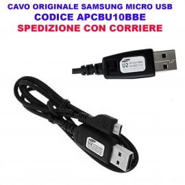 Cavo Dati e Alimentazione Micro USB Samsung Originale NERO APCBU10BBE