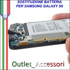 Cambio Sostituzione Batteria Pila Interna Samsung Galaxy S6 G920F Originale