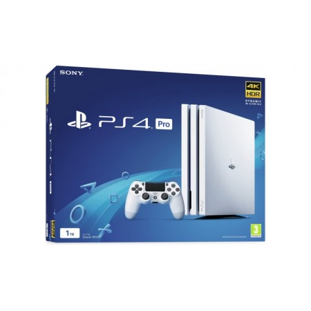 Console Sony PS4 PRO 1TB 1000GB Bianca White 4K Joypad Dualshock Playstation 4