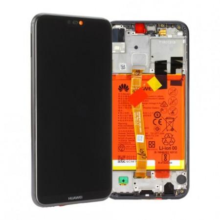 Display Schermo Originale Huawei P20 LITE NERO LCD TOUCH Vetro Cornice Batteria 02351VPR