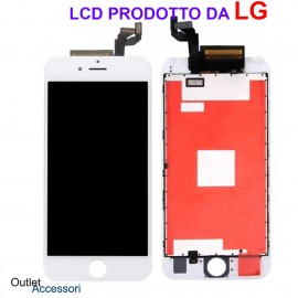Display Schermo Apple IPHONE 6S LCD Marca LG Touch Screen Vetro Apple A1633, A1688, A1700 Nero Black Qualità Originale