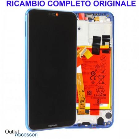 Display Schermo Originale Huawei P20 LITE BLU LCD TOUCH Vetro Cornice Batteria 02351VPR