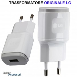Trasformatore Caricatore Presa a Muro Originale LG MCS-04ED USB Bianco