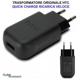 Trasformatore Caricatore Presa a Muro Originale HTC TC P5000-EU Fast Charger Ricarica Veloce