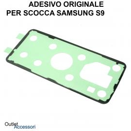 Biadesivo Adesivo Copribatteria Samsung GALAXY S9 G960 G960F Originale Back Cover