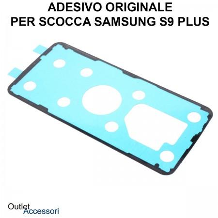 Biadesivo Adesivo Copribatteria Samsung GALAXY S9 PLUS G965 G965F Originale Back Cover