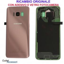 Copribatteria Scocca Samsung Galaxy S8 G950 Originale Vetro Posteriore Retro Rosa Pink GH82-13962E