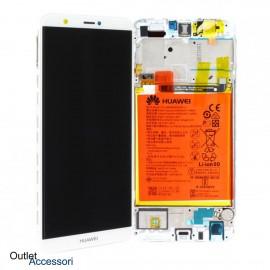 Display Schermo Originale Huawei P SMART BIANCO LCD TOUCH Vetro Cornice Batteria 02351SVE