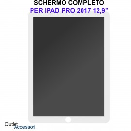 Schermo Display Apple Ipad PRO A1670 A1671 LCD Touch Vetro Ricambio Completo OEM Bianco