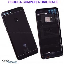 Copribatteria Scocca Posteriore Originale Huawei P SMART FIG-LX1 L31 NERO Tasto Impronte Back Cover