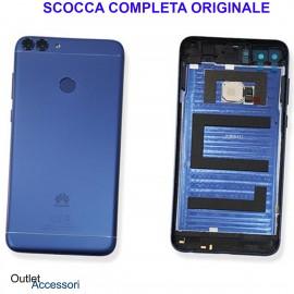 Copribatteria Scocca Posteriore Originale Huawei P SMART FIG-LX1 L31 BLU Tasto Impronte Back Cover