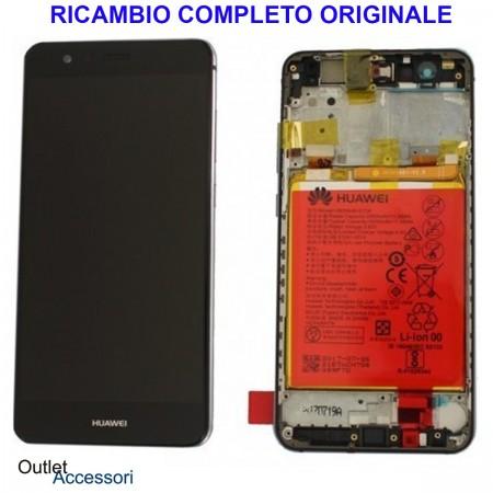 Display Schermo Originale Huawei P SMART NERO LCD TOUCH Vetro Cornice Batteria FIG-LX1