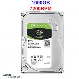 Hard Disk Memoria Seagate BarraCuda 1TB 1000GB 3,5'' 7200RPM ST1000DM010