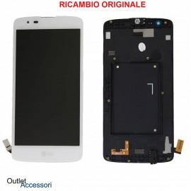 Display Schermo LCD ORIGINALE LG K8 K350 K350N K350E Vetro Touch Bianco ACQ88830202