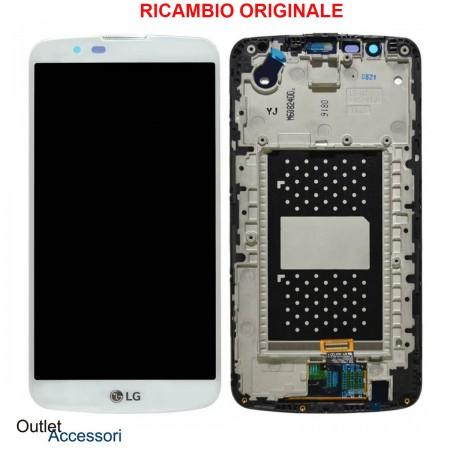 Display Schermo LCD ORIGINALE LG K10 K420 K420N Vetro Touch Bianco ACQ88868303