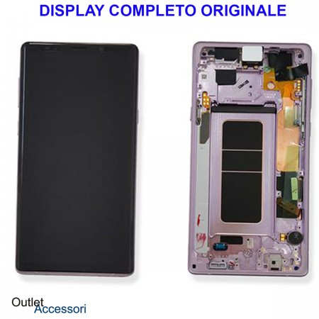 Display LCD Touch Samsung NOTE 9 N960 SM-N960F VIOLA PURPLE Originale Vetro Touch GH97-22269e