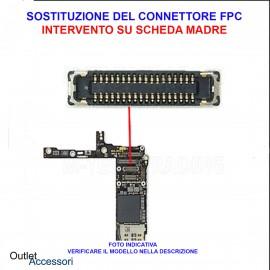 Cambio Connettore FPC LCD Display Samsung J3 2016 Intervento su Scheda Madre J320