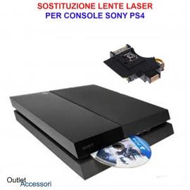 Cambio Sostituzione Laser Lettore Lente Sony PS4 Unità Ottica