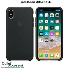 Cover Custodia ORIGINALE Apple Iphone X 10 Silicone Case Nero Nera MMWF2ZM/A