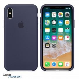 Cover Custodia ORIGINALE Apple Iphone X 10 BLU MIDNIGHT Silicone Case MQT32FE/A