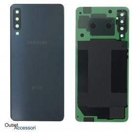 Scocca Copribatteria Vetro ORIGINALE Samsung A7 2018 A750 A750FN NERO GH82-17833A