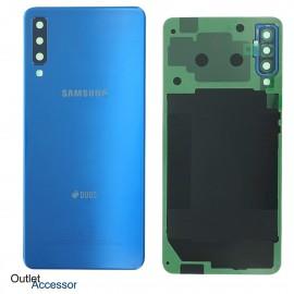 Scocca Copribatteria Vetro ORIGINALE Samsung A7 2018 A750 A750FN BLU GH82-17833D