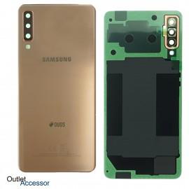 Scocca Copribatteria Vetro ORIGINALE Samsung A7 2018 A750 A750FN GOLD ORO GH82-17833C