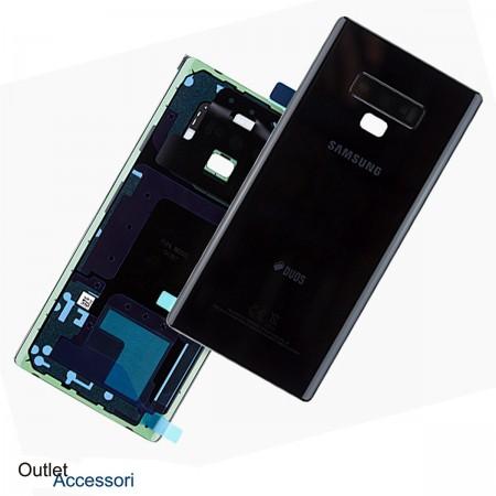 Scocca Copribatteria Vetro ORIGINALE Samsung NOTE 9 N960 N960F NERO GH82-16923A