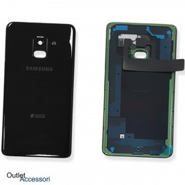 Scocca Copribatteria Vetro ORIGINALE Samsung A8 2018 A530 A530F NERO GH82-15557A