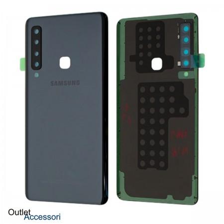 Scocca Copribatteria Vetro ORIGINALE Samsung A9 2018 A920 A920F NERA GH82-18239A
