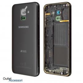 Scocca Copribatteria Cornice ORIGINALE Samsung J6 2018 J600 J600FN NERO GH82-16868A
