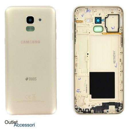 Scocca Copribatteria Cornice ORIGINALE Samsung J6 2018 J600 J600FN GOLD ORO GH82-16868D