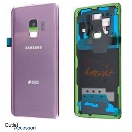 Copribatteria Scocca Samsung Galaxy S9 PLUS G965F Viola Originale Vetro Posteriore GH82-15660B