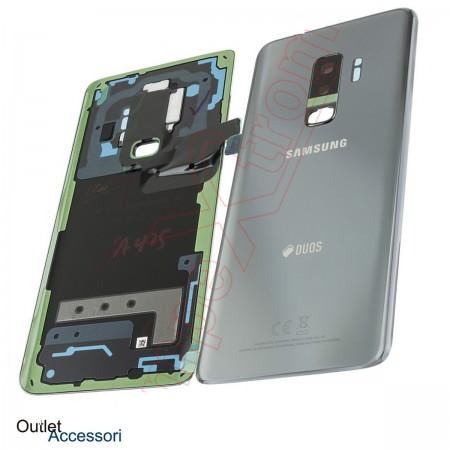 Copribatteria Scocca Samsung Galaxy S9 PLUS G965F Silver Grigio Titanium Originale Vetro Posteriore GH82-15660C