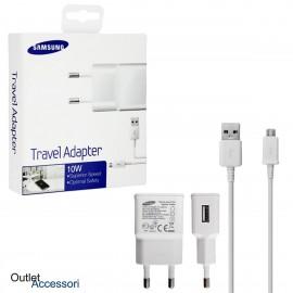 Alimentatore Caricabatteria Originale Samsung 10W Cavo Micro USB 2A ETAU90EBEG