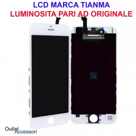 Display Schermo IPHONE 6 LCD Touch Screen Vetro Apple A1549, A1586, A1589 Bianco White Qualità Originale TianMa