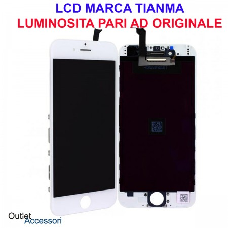 Display Schermo LCD Touch Screen Vetro Apple Iphone 6 BIANCO