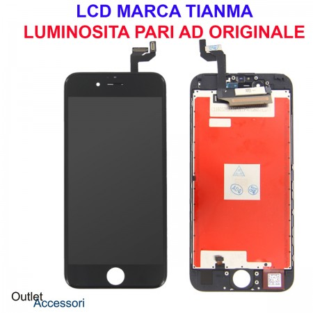 Display Schermo LCD Touch Screen Vetro Apple Iphone 6S